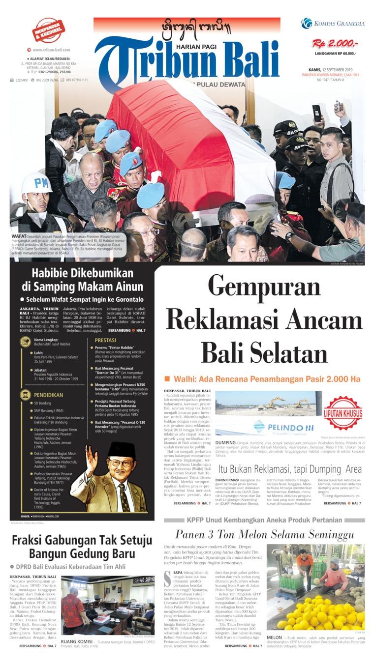 Tribun Bali Digital Newspaper 12 September 2019