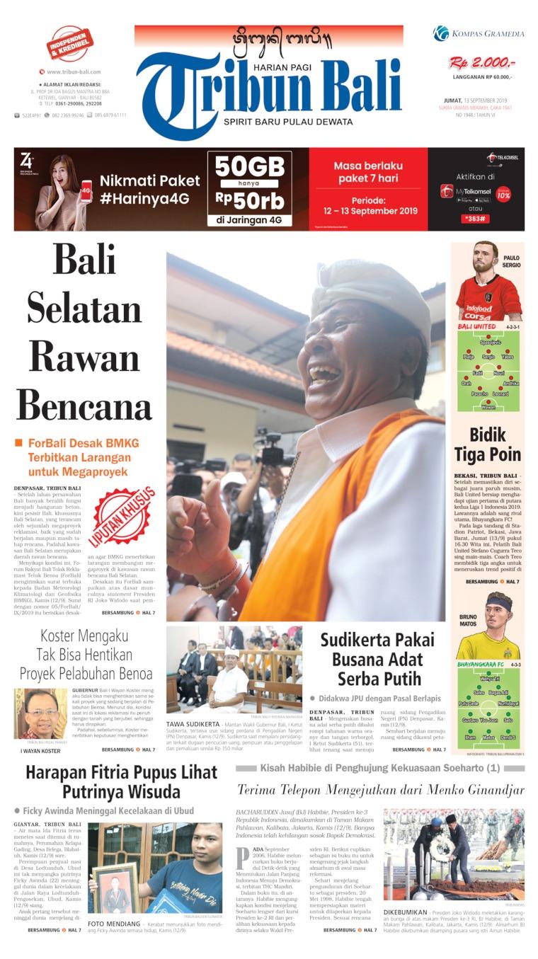 Tribun Bali Digital Newspaper 13 September 2019