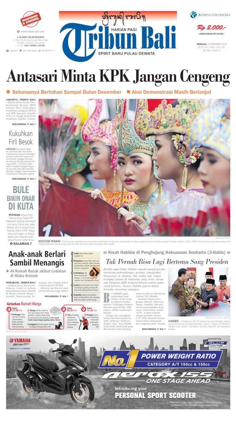 Tribun Bali Digital Newspaper 15 September 2019