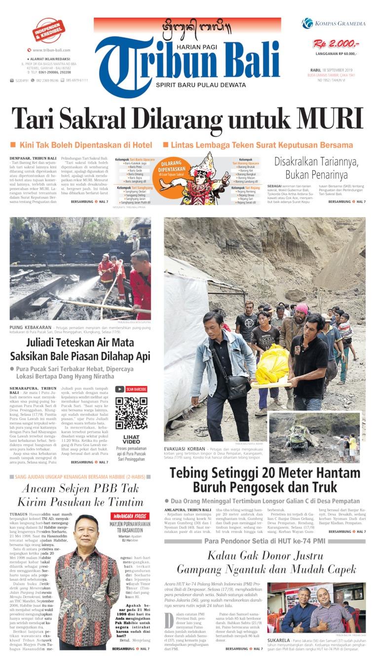 Koran Digital Tribun Bali 18 September 2019