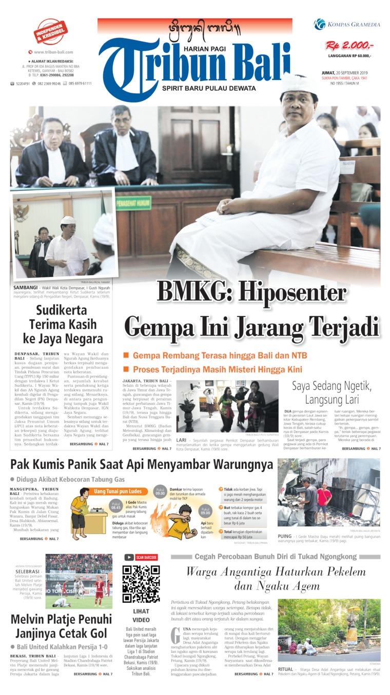 Koran Digital Tribun Bali 20 September 2019