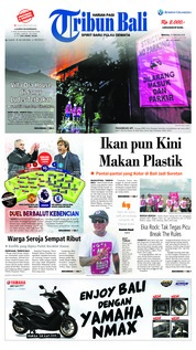 Cover Tribun Bali 25 Februari 2018