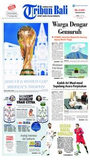 Cover Tribun Bali 18 Juni 2018