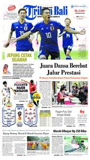Cover Tribun Bali 20 Juni 2018