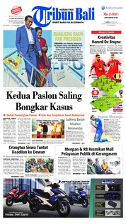 Cover Tribun Bali 23 Juni 2018