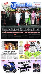Cover Tribun Bali 24 Juni 2018