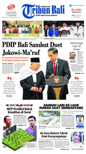 Cover Tribun Bali 10 Agustus 2018