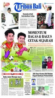 Cover Tribun Bali 11 Agustus 2018