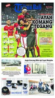 Cover Tribun Bali 12 Agustus 2018