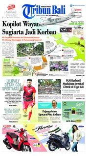 Cover Tribun Bali 13 Agustus 2018