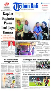 Cover Tribun Bali 14 Agustus 2018