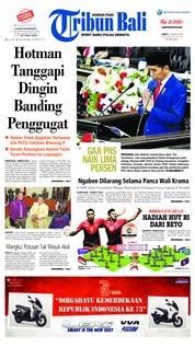 Cover Tribun Bali 17 Agustus 2018