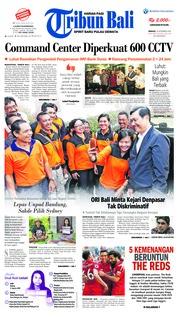 Cover Tribun Bali 16 September 2018