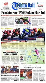 Cover Tribun Bali 19 September 2018