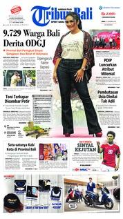 Cover Tribun Bali 21 September 2018