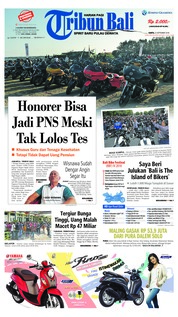 Cover Tribun Bali 22 September 2018