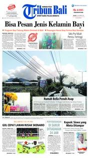 Cover Tribun Bali 25 September 2018