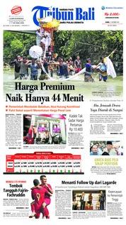 Cover Tribun Bali 11 Oktober 2018