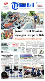 Cover Tribun Bali 12 Oktober 2018
