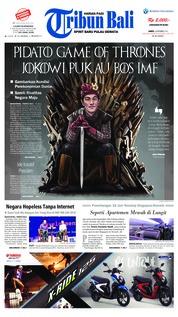 Cover Tribun Bali 13 Oktober 2018