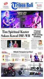 Cover Tribun Bali 14 Oktober 2018