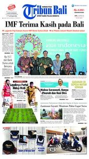 Cover Tribun Bali 15 Oktober 2018