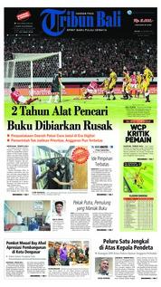 Cover Tribun Bali 16 Oktober 2018