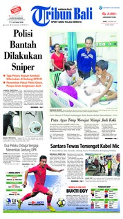 Cover Tribun Bali 18 Oktober 2018
