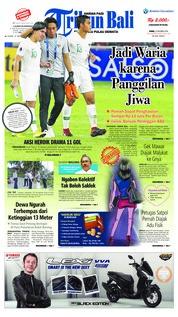 Cover Tribun Bali 22 Oktober 2018