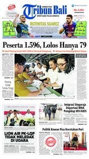 Cover Tribun Bali 06 November 2018