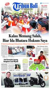 Cover Tribun Bali 09 November 2018