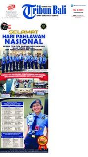 Cover Tribun Bali 10 November 2018