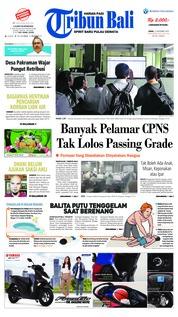 Cover Tribun Bali 12 November 2018