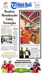 Cover Tribun Bali 13 November 2018