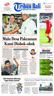 Cover Tribun Bali 14 November 2018