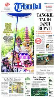 Cover Tribun Bali 15 November 2018