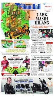 Cover Tribun Bali 25 November 2018