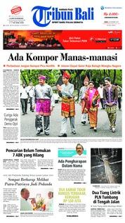 Cover Tribun Bali 26 November 2018