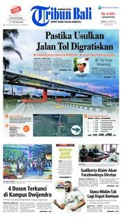 Cover Tribun Bali 27 November 2018