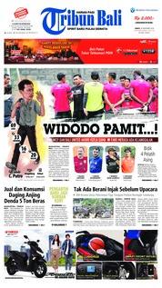 Cover Tribun Bali 30 November 2018