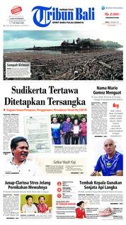 Cover Tribun Bali 01 Desember 2018