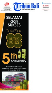 Cover Tribun Bali 08 Desember 2018