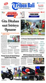 Cover Tribun Bali 12 Desember 2018