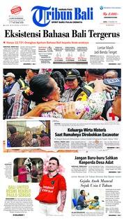 Cover Tribun Bali 15 Desember 2018