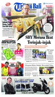 Cover Tribun Bali 16 Desember 2018