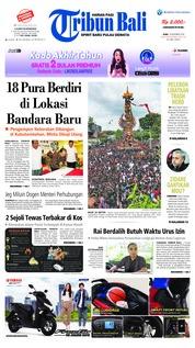 Cover Tribun Bali 19 Desember 2018