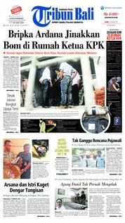 Cover Tribun Bali 10 Januari 2019