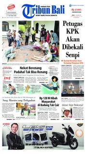 Cover Tribun Bali 11 Januari 2019