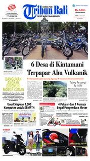 Cover Tribun Bali 12 Januari 2019