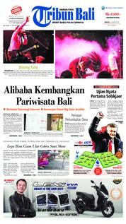 Cover Tribun Bali 13 Januari 2019